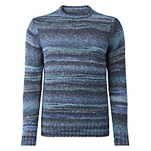 Buy JOHN LEWIS & Co. Space Dye Crew Neck Jumper, Dark Blue Online at johnlewis.com