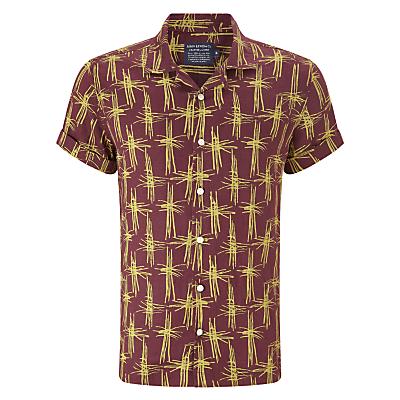 JOHN LEWIS  Co. Bamboo Linen Bowling Shirt Oxblood £20.00 AT vintagedancer.com