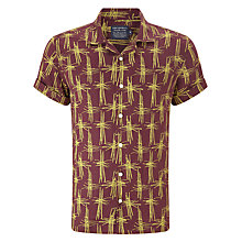 Buy JOHN LEWIS & Co. Bamboo Linen Bowling Shirt, Oxblood Online at johnlewis.com