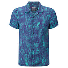 Buy JOHN LEWIS & Co. Butterfly Linen Bowling Shirt, Teal Online at johnlewis.com