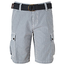 Buy John Lewis Belted Cargo Shorts, Navy Online at johnlewis.com