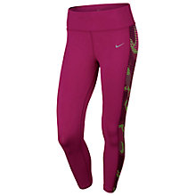 Buy Nike Printed Epic Lux Cropped Running Tights, Pink Online at johnlewis.com