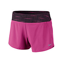 "Buy Nike 4"" Woven Rival Shorts, Pink/Black Online at johnlewis.com"