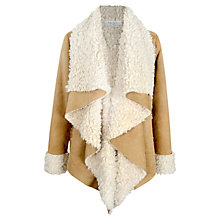 Buy Paisie Faux Sheepskin Coat, Tan / Cream Online at johnlewis.com