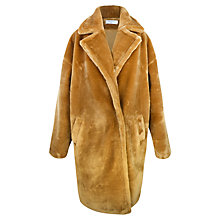 Buy Paisie Faux Fur Teddy Coat, Caramel Online at johnlewis.com