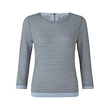 Buy Jigsaw Stripe Zip Back Wool Jumper Online at johnlewis.com