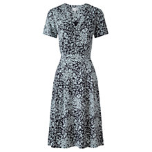 Buy Jigsaw Spring Leaf Tea Dress, Navy Online at johnlewis.com