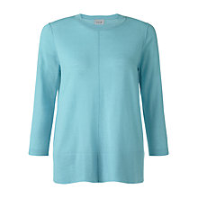 Buy Jigsaw Fine Knit Trapeze Jumper, Aqua Online at johnlewis.com