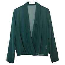 Buy Almari Wrap Chiffon Top, Dark Green Online at johnlewis.com