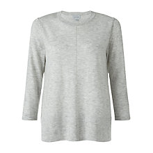 Buy Jigsaw Fine Knit Trapeze Jumper, Light Grey Mel Online at johnlewis.com