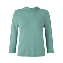 Buy Jigsaw Roll Collar Zip Jumper Online at johnlewis.com