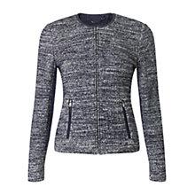 Buy Jigsaw Knit Marl Cardigan Jacket, Navy Online at johnlewis.com