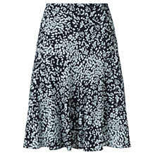 Buy Jigsaw Spring Leaf Flippy Skirt, Navy Online at johnlewis.com