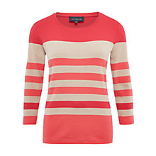 Buy Viyella Colour Block Striped Jersey Top, Red Online at johnlewis.com