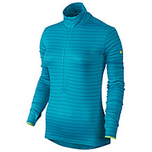 Buy Nike Pro Hyperwarm Half Zip Long Sleeve Top, Blue Online at johnlewis.com