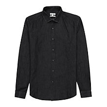Buy Reiss Miller Denim Wash Shirt, Grey Online at johnlewis.com