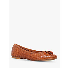 Buy Carvela Luggage Woven Leather Ballerina Pumps Online at johnlewis.com