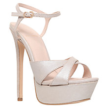 Buy KG by Kurt Geiger Heat Platform Sandals, Champagne Online at johnlewis.com