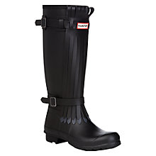 Buy Hunter Original Fringe Wellington Boots, Black/Dark Online at johnlewis.com