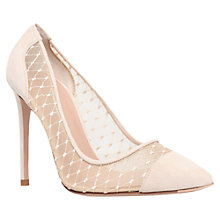 Buy Kurt Geiger Sharkie Leather Stiletto Court Shoes, Nude Online at johnlewis.com