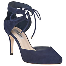 Buy L.K. Bennett Paola Suede Lace Up Court Shoes Online at johnlewis.com