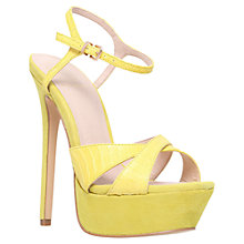 Buy KG by Kurt Geiger Heat Platform Sandals, Yellow Online at johnlewis.com