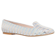 Buy Carvela Lychee Slip On Shoes, Silver Online at johnlewis.com