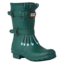 Buy Hunter Original Short Fringe Wellington Boots, Green Online at johnlewis.com