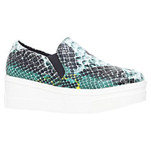 Buy KG by Kurt Geiger Lizard Flatform Trainers, Snake Print Online at johnlewis.com