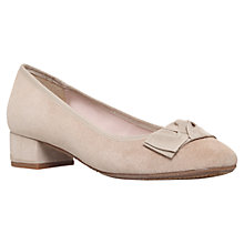 Buy Carvela Comfort Aggie Block Heeled Suede Ballerina Pumps, Beige Online at johnlewis.com