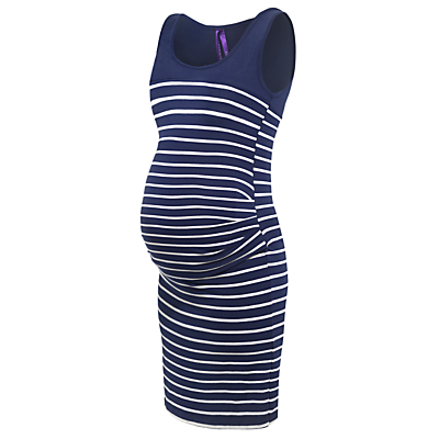 Product photo of S raphine nia stripe maternity dress navy white