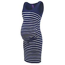 Buy Séraphine Nia Stripe Maternity Dress, Navy/White Online at johnlewis.com