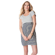 Buy Séraphine Selena Stripe Maternity Dress, Grey Online at johnlewis.com