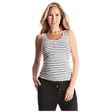 Buy Séraphine Luna Stripe Maternity Top, White/Black Online at johnlewis.com