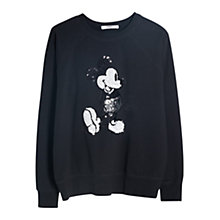 Buy Mango Cartoon Cotton Sweatshirt, Black Online at johnlewis.com