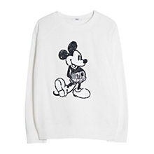 Buy Mango Sequin Cartoon Sweatshirt, White Online at johnlewis.com
