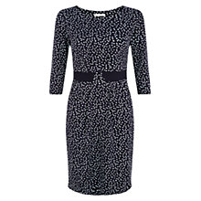 Buy Hobbs Nia Polka Dot Dress, Navy Online at johnlewis.com