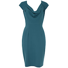 Buy Almari Cowl Neck Button Back Dress, Teal Online at johnlewis.com
