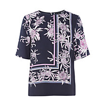 Buy Warehouse Chrysanthemum Print Top, Multi Online at johnlewis.com