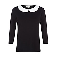 Buy Hobbs Fearne Top, Black Ivory Online at johnlewis.com