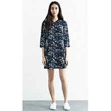 Buy Warehouse Textured Animal Shift Dress, Multi Online at johnlewis.com