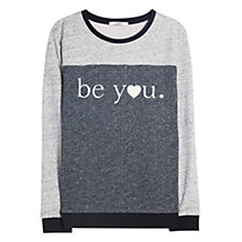 Buy Mango Message Sweatshirt, Dark Grey Online at johnlewis.com