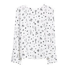 Buy Mango Bow Printed Blouse, Natural White Online at johnlewis.com