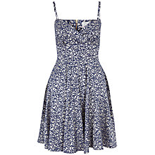 Buy Almari Rose Jacquard Strappy Dress, Navy Online at johnlewis.com