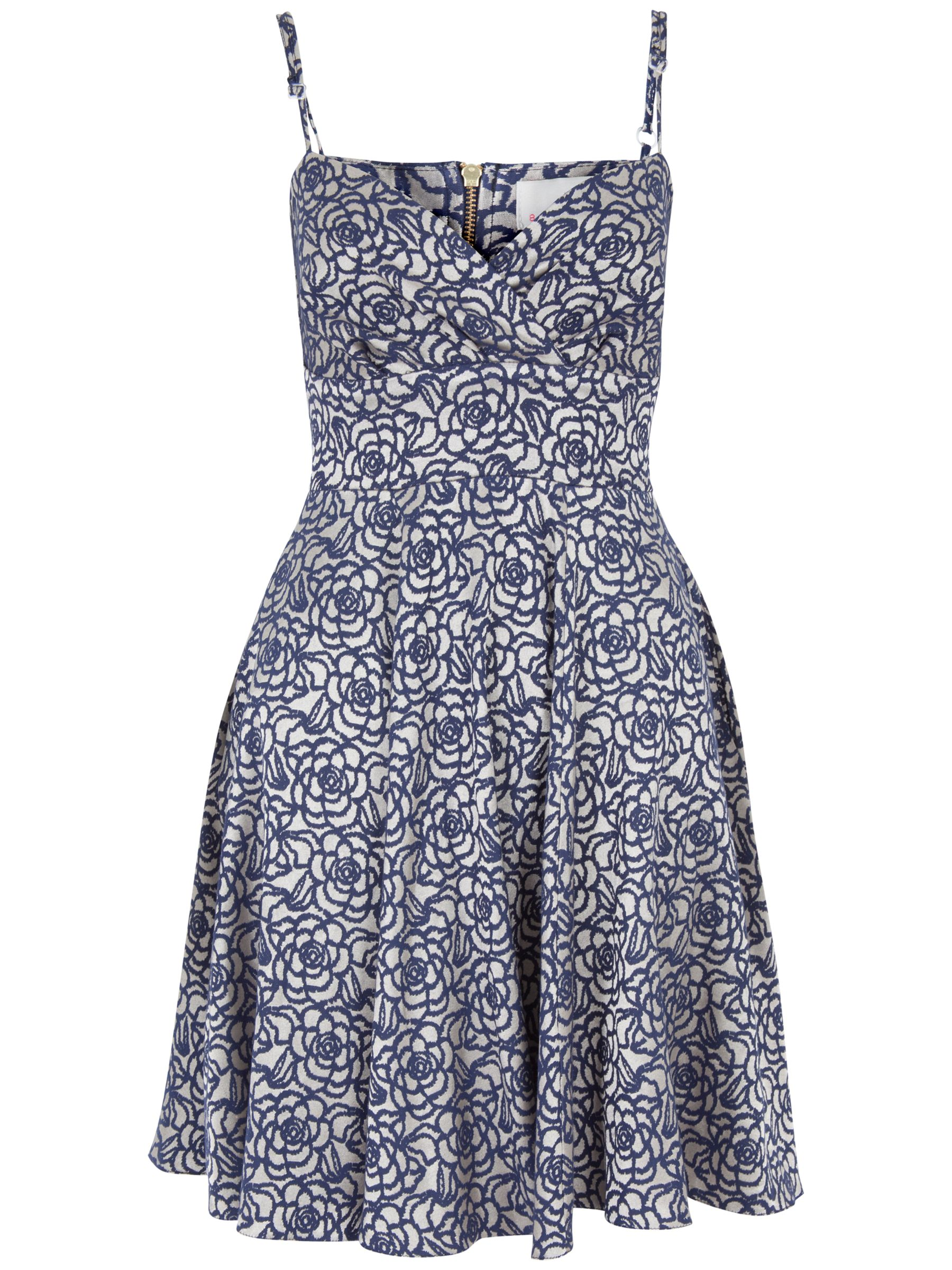 almari rose jacquard strappy dress navy, almari, rose, jacquard, strappy, dress, navy, 10|8|14, clearance, womenswear offers, womens dresses offers, winter sun, women, inactive womenswear, new reductions, womens dresses, buy now save for spring, special offers, 1787239