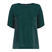 Buy Warehouse Metallic Boyfriend T-Shirt, Dark Green Online at johnlewis.com