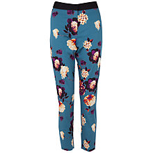 Buy Almari Floral Contrast Waist Cotton Trousers, Multi Online at johnlewis.com