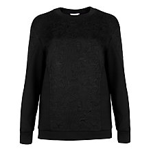 Buy Ted Baker Jacquard Panel Jumper, Black Online at johnlewis.com