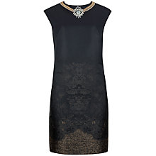 Buy Ted Baker Embellished Neck Tunic, Black Online at johnlewis.com
