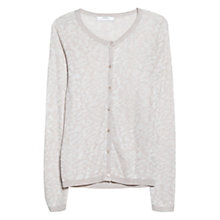 Buy Mango Leopard Pattern Cardigan, Natural White Online at johnlewis.com